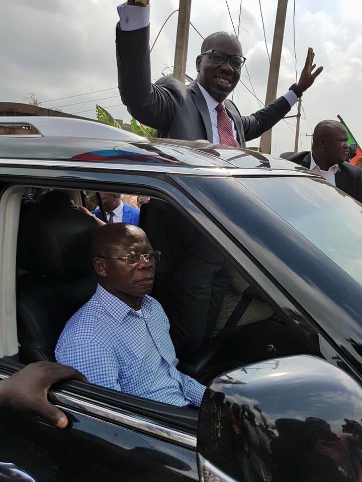 Obaseki and Adams Oshiomhole