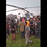 BREAKING: Edo Villagers Seize Police Helicopter That Suddenly Landed In A Bush