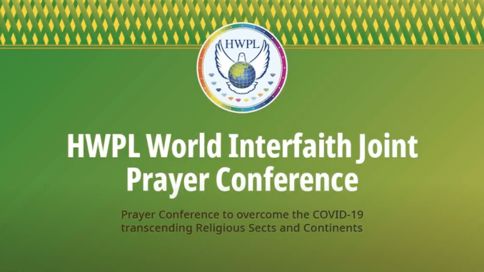 World Interfaith Online Prayer Conference Is Set To Call for Overcoming COVID-19