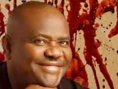 Governor Wike blood background