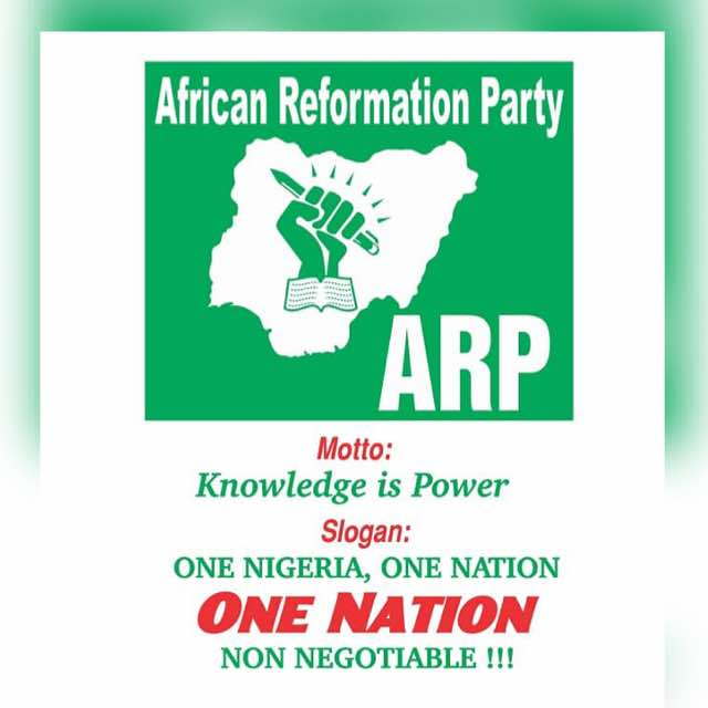 AFRICAN REFORMATION PARTY (ARP)