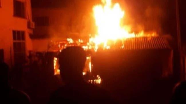 Just in- Lagos Ketu plank market on fire