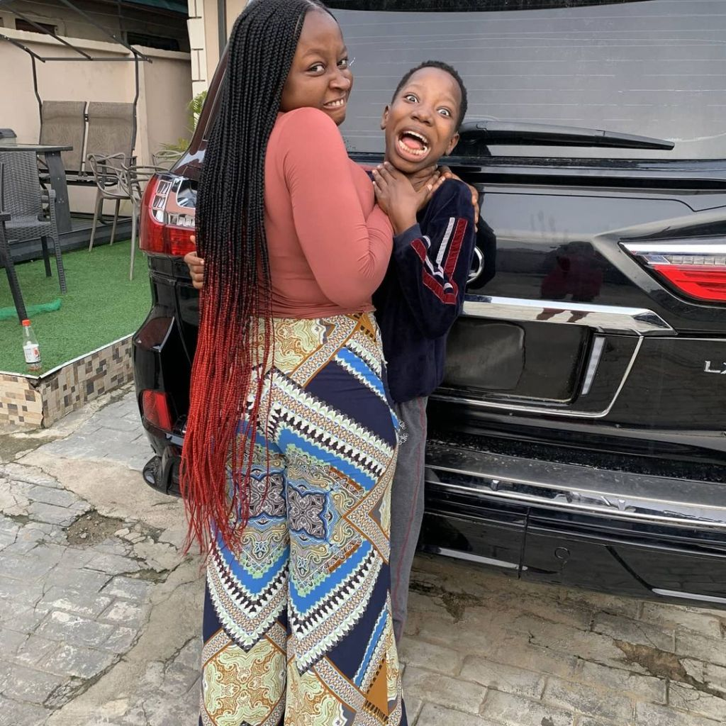 10-year-old kid comedian Emanuella shows off brand new Lexus LX570 on social media