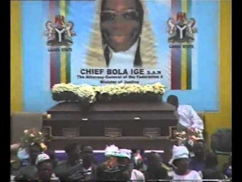 Bola Ige's funeral - He was assassinated onDecember 23 2001