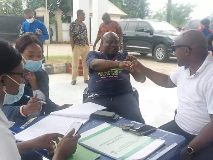 COVID-19 VACCINATION IS REAL AS THE STATE MAJORITY LEADER KANAYO ONYEMAECHI GOT HIS DOSE - IMAGES - 9NEWS NIGERIA