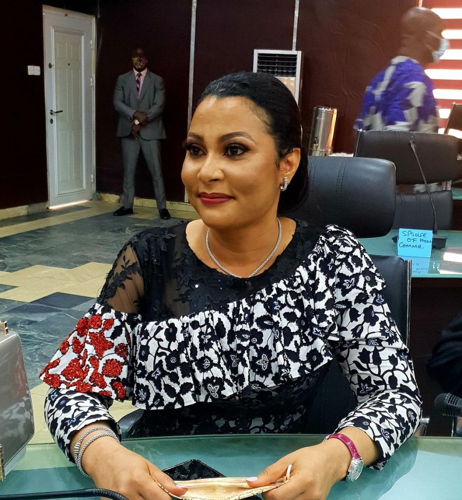 Imo Commissioner for Finance, Dr.(Mrs). Doris Nkiruka Uzoka Anite - 9News Nigeria at the swearing in ceremony of newly appointed Commissioners, Board members of Imo Broadcasting Cooperation,(IBC).