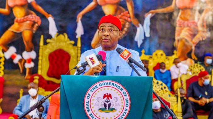 Imo state Governor, Hope Uzodinma