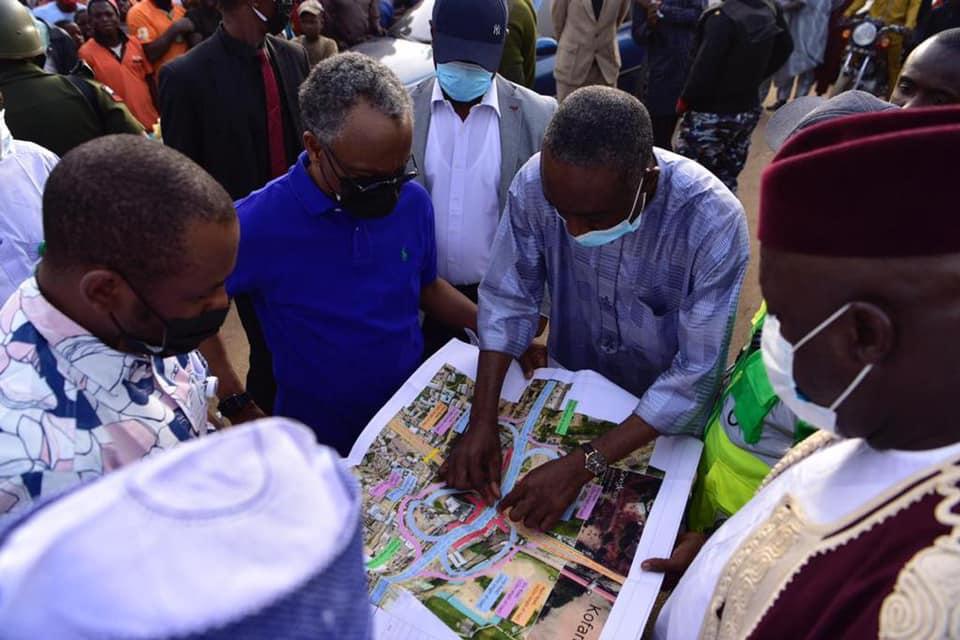 Kaduna State Governor Nasir El-Rufai viewing the Kaduna Development Plans