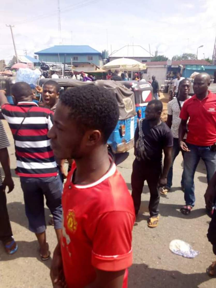 Keke riders protest in Asaba