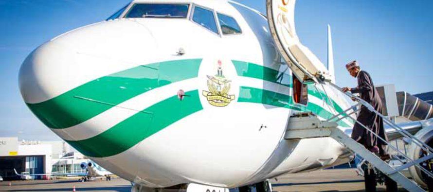 President Buhari Boarding A Flight