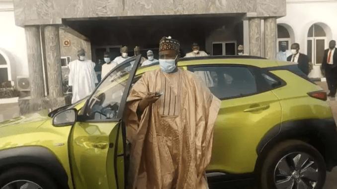 Tambuwal Receives First Electric Car Assembled In Nigeria By NADDC - 9News Nigeria