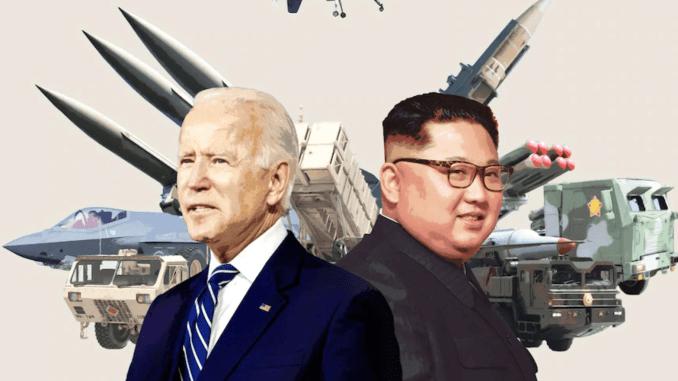 US President Joe Biden and Kim Jong Un of North Korea