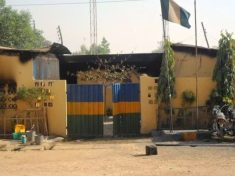 Delta State Police Headquarters Is Burning