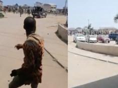 Hausa/Fulani okada riders unleash Terror At Ojo Iyana/Iba Lagos State destroying cars and properties (Video)