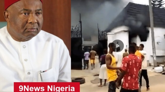 Imo Information Commissioner Emelumba Reveals Why Gov. Hope Uzodinma's House Was Attacked And Set Ablaze