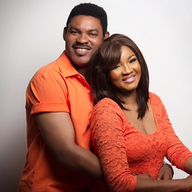 Omotola Jalade-Ekeinde and her hubby Mathew Ekeinde celebrating their 25th wedding anniversary.