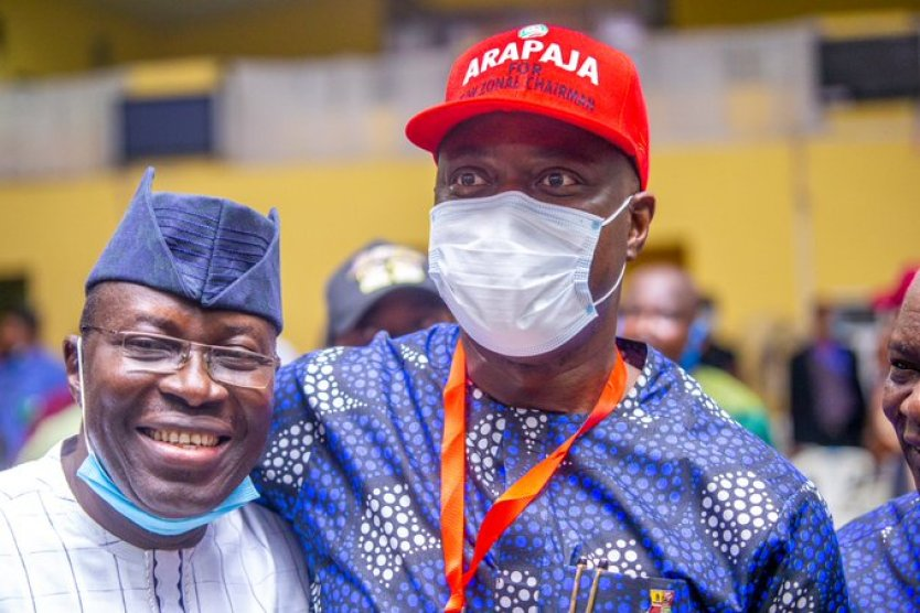 Taofeek Arapaja with Governor Seyi Makinde