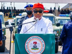 GOVERNOR HOPE UZODIMMA ON THE OCCASION OF THE PRESENTATION OF SECURITY VEHICLES AND GADGETS TO OPERATION SEARCH AND FLUSH TEAM, ON WEDNESDAY, MAY 5TH, 2021.