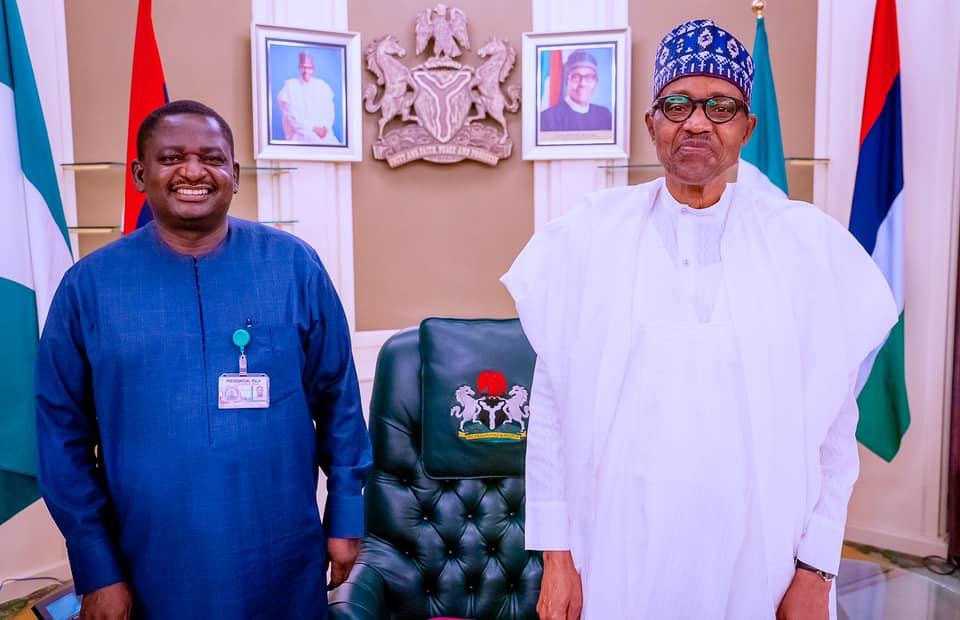 Special Adviser to President Buhari on Media and Publicity, Femi Adesina and President Muhammadu Buhari