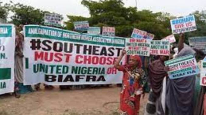 BREAKING: HEAVY PROTEST ROCKS FCT ABUJA AS NORTHERN GROUP DEMANDS REFERENDUM