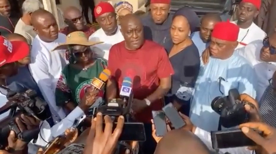 Chief Olisa Metuh hosted the Guber Aspirants in his Country home