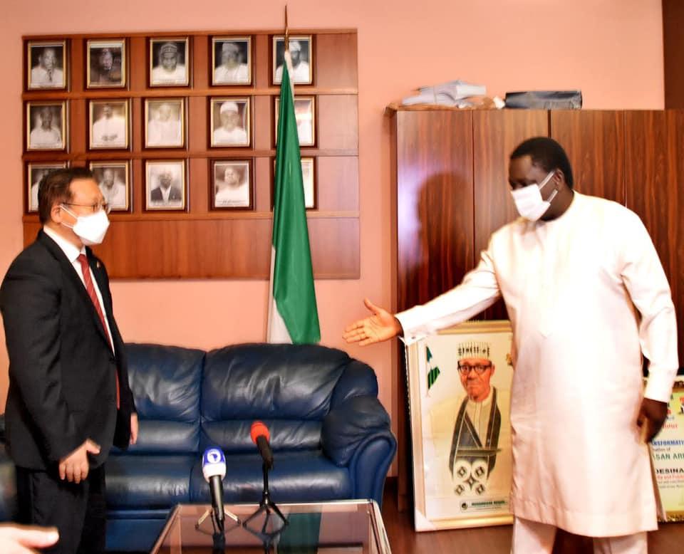 Femi Adesina with Chinese Diplomat