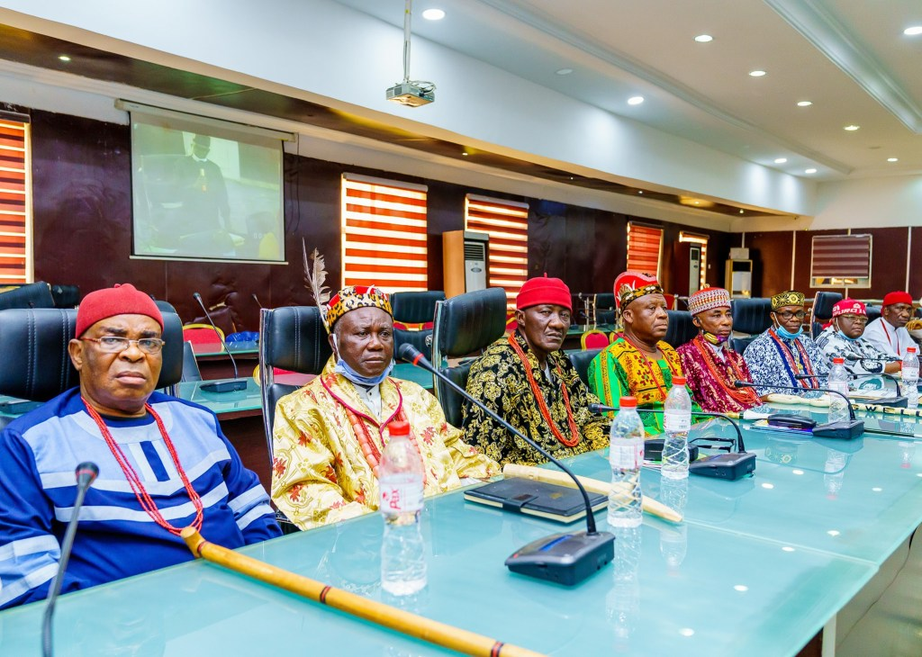 Governor Hope Uzodinma meets with the traditional rulers and Council Chairmen in the state - 2