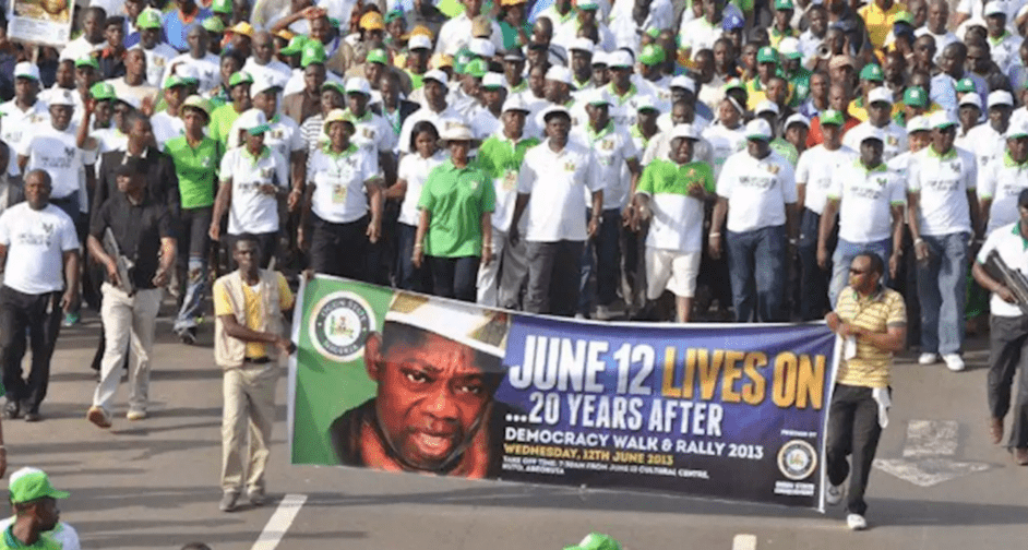 June 2012 Protest in 20213, 20 years after election annulment