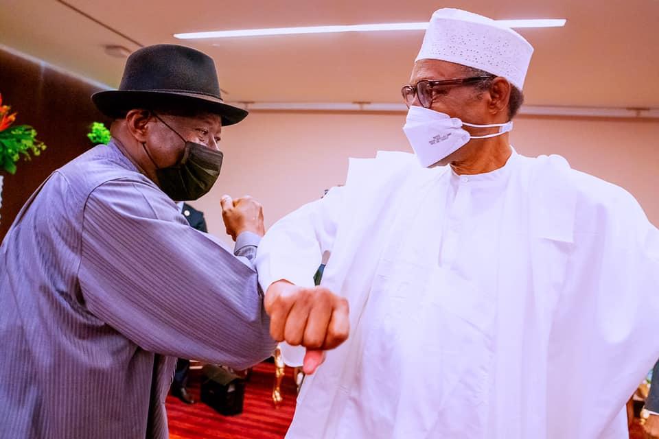 Former President Goodluck Jonathan and President Muhammadu Buhari