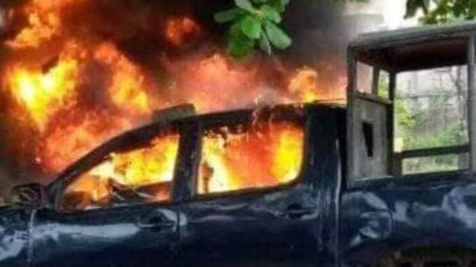 Unknown gunmen set police van on fire in Imo State