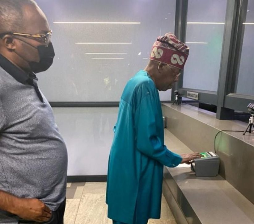 Bola Ahmed Tinubu looking frail after a rumoured illness