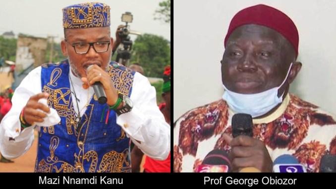 Nnamdi Kanu and Prof George Obiozor