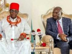 Oba of Benin and the Edo State Governor, Godwin Obaseki