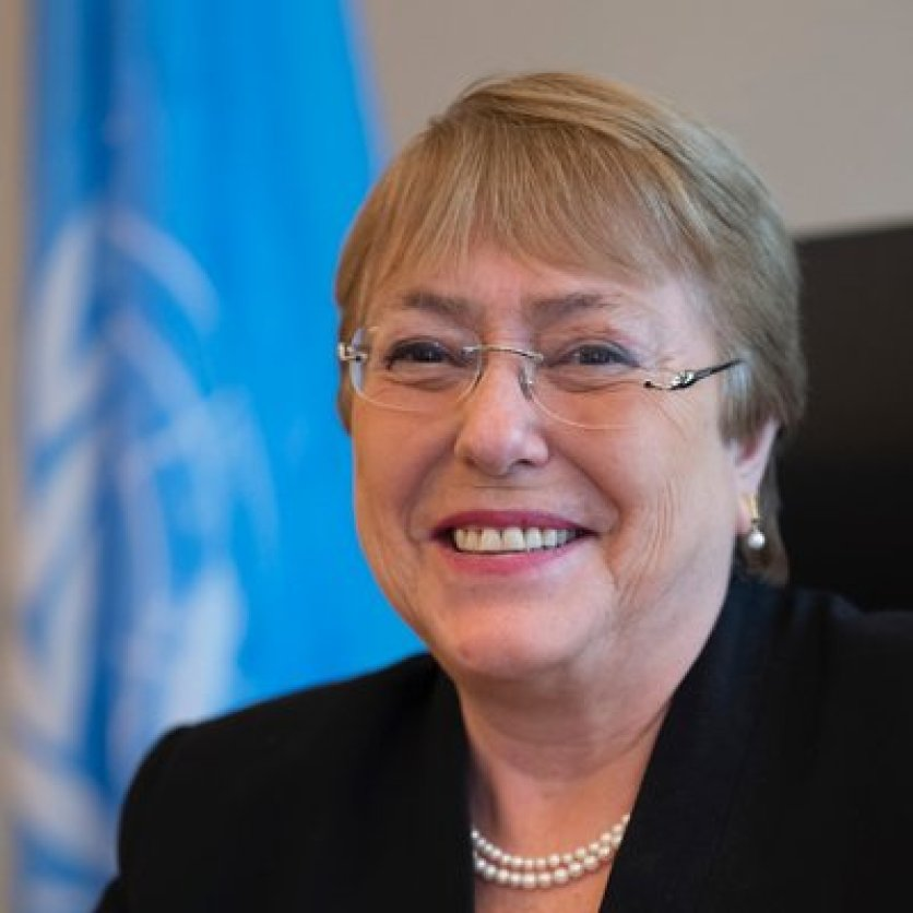 The United Nations High Commissioner for Human Rights, Michelle Bachelet Jeria