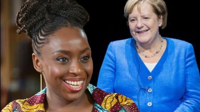 Chimamanda Ngozi Adichie and German Chancellor, Angela Merkel