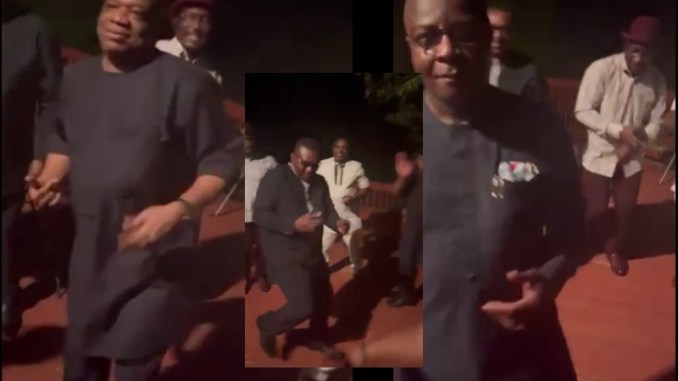 Leaked video shows Orji Uzor Kalu, Abia past and present governors, Theodor and Ikpeazu in a drunk dance (VIDEO)