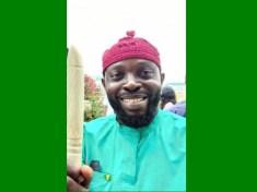 Comrade Princely Onyenwe and Nigerian Flag