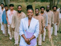 Our African Roots host and co-producer, Santilla Chingaipe with the cast of actors portraying the ten convicts of African descent who arrived in Australia on the First Fleet