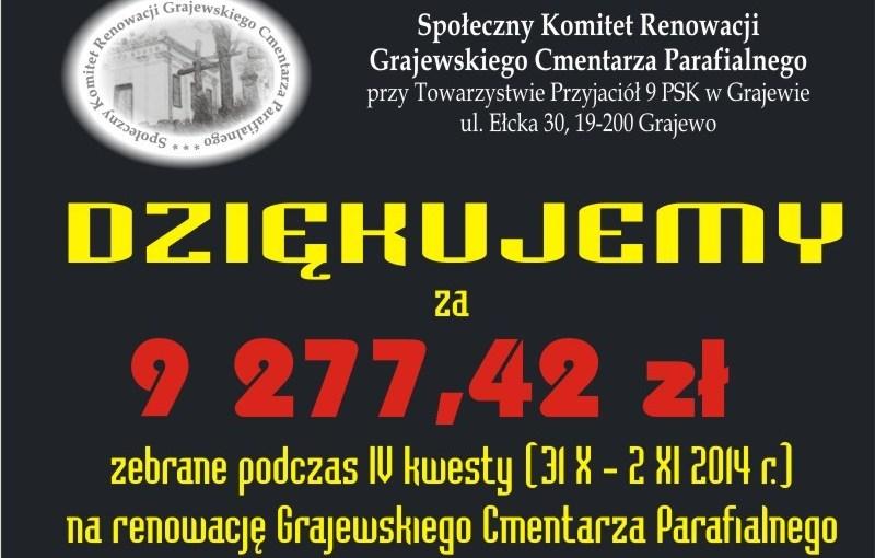 31.10-02.11.2014 r. – IV kwesta cmentarna