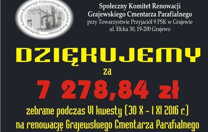 30.10-01.11.2016 r. – VI kwesta cmentarna