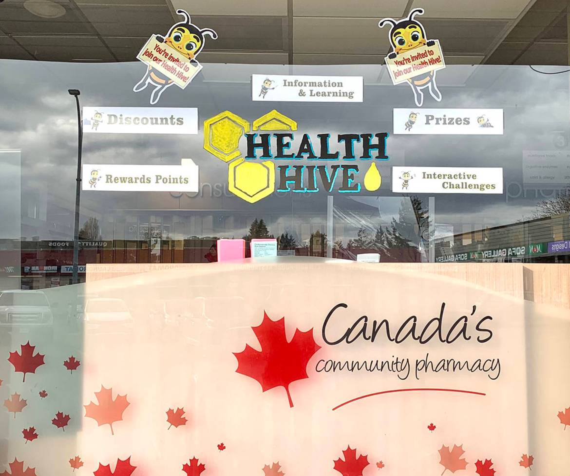Stop by Parksville Pharmasave at 1-281 Island Hwy E to learn more about the Health Hive Challenge.