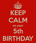 5th birthday!