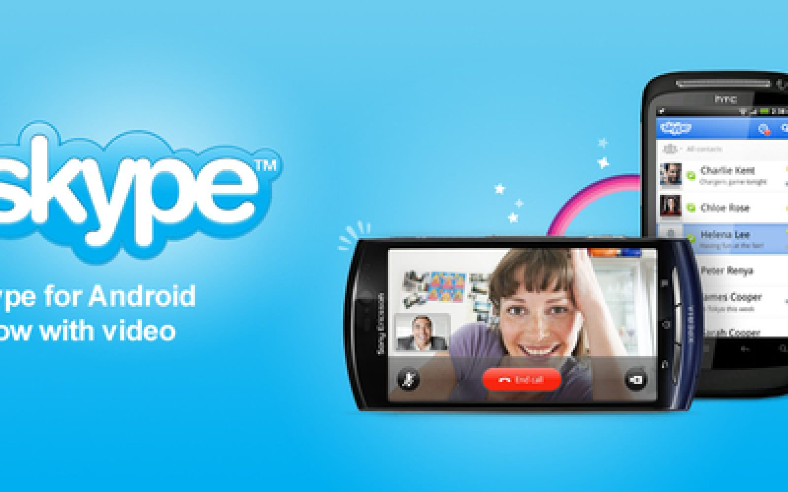 Skype updates Android app with video calls over WiFi and 3G