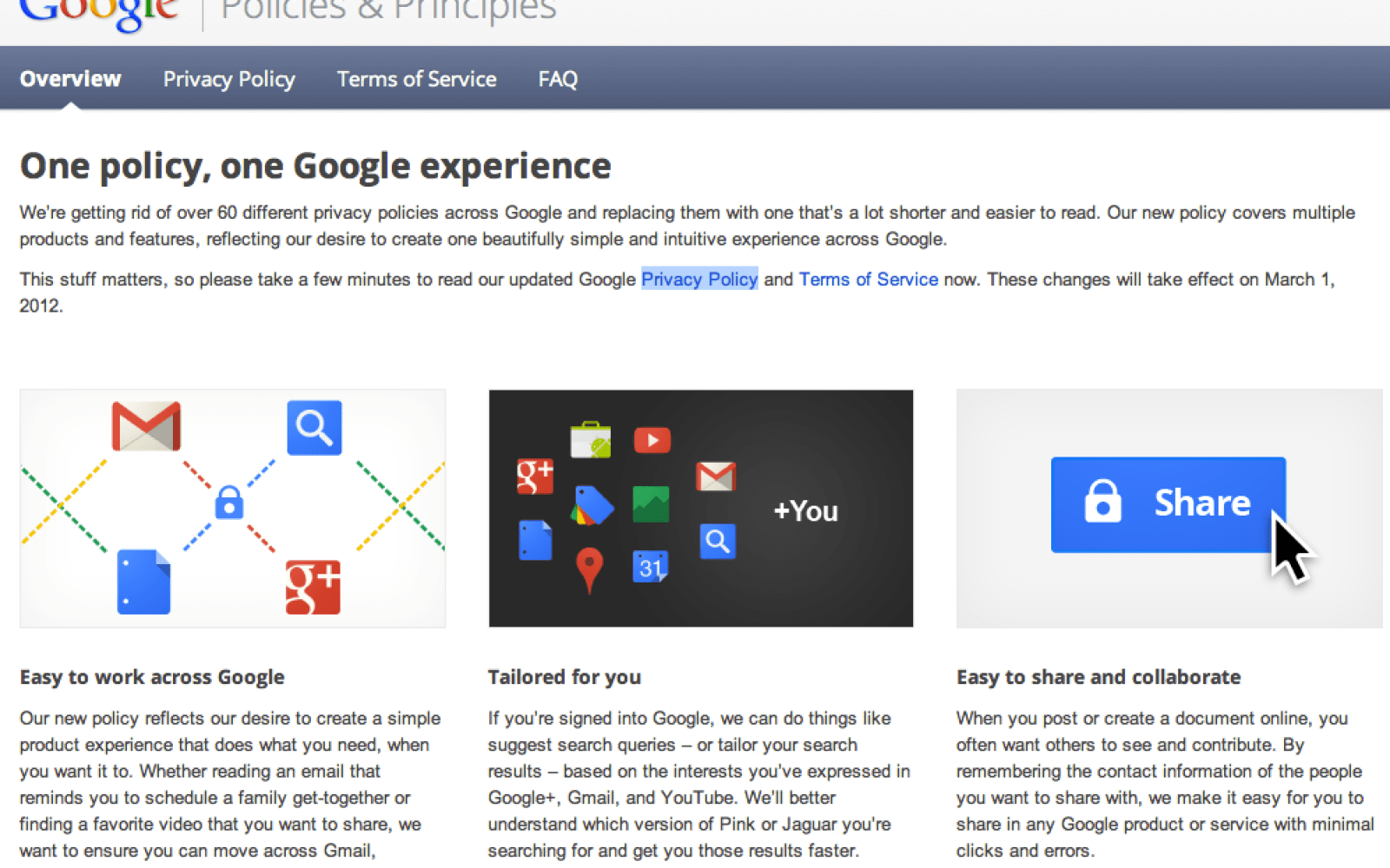 Google Compiles 60 Documents Into One Privacy Policy For One Google