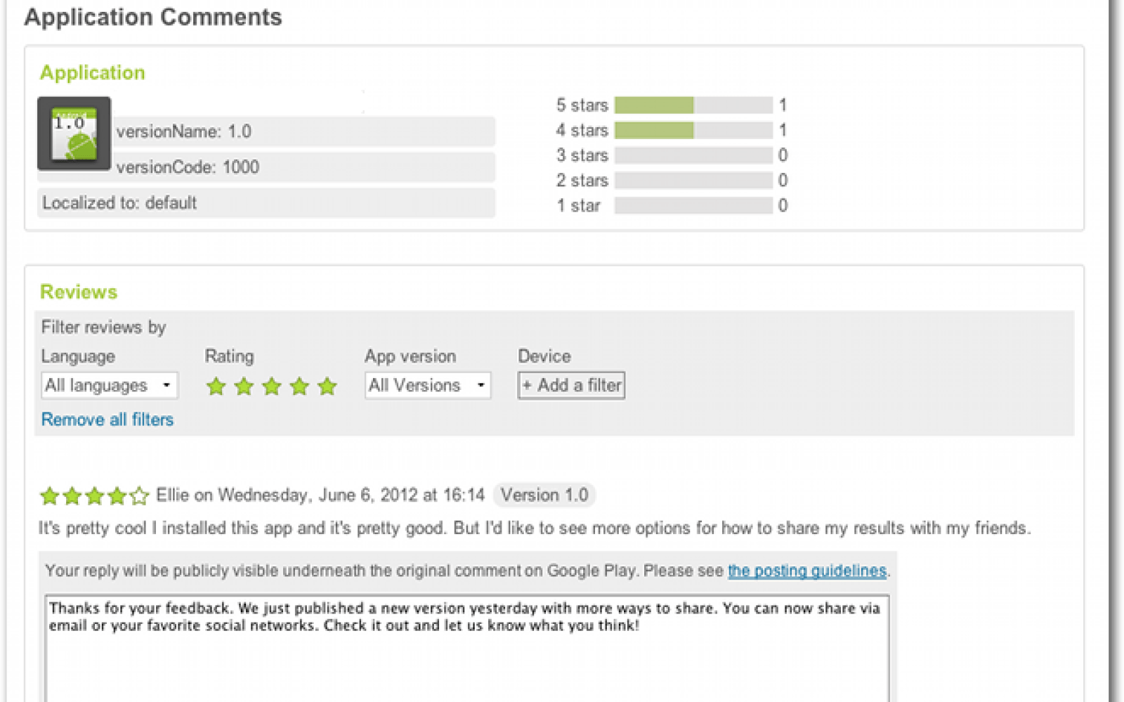 Google Play now lets developers reply to user reviews