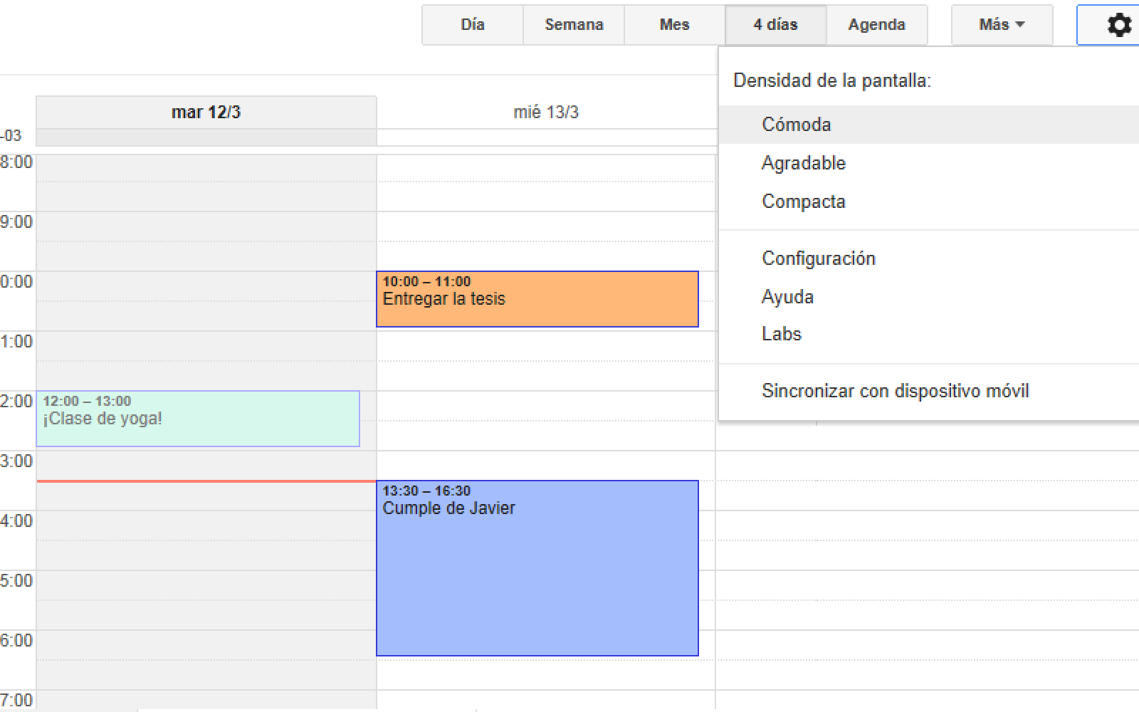 Google Calendar now available in Latin American Spanish on