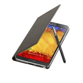 Galaxy Note3 FlipCover_004_Open Pen_Mocha Gray