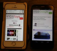 Moto G Vs. iPhone screen/chrome