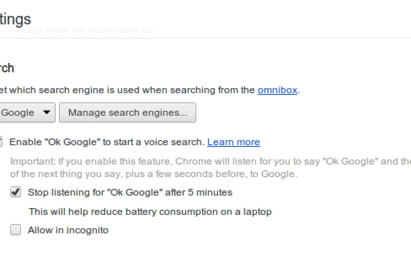 Ok Google' voice search arrives as native Chromium feature