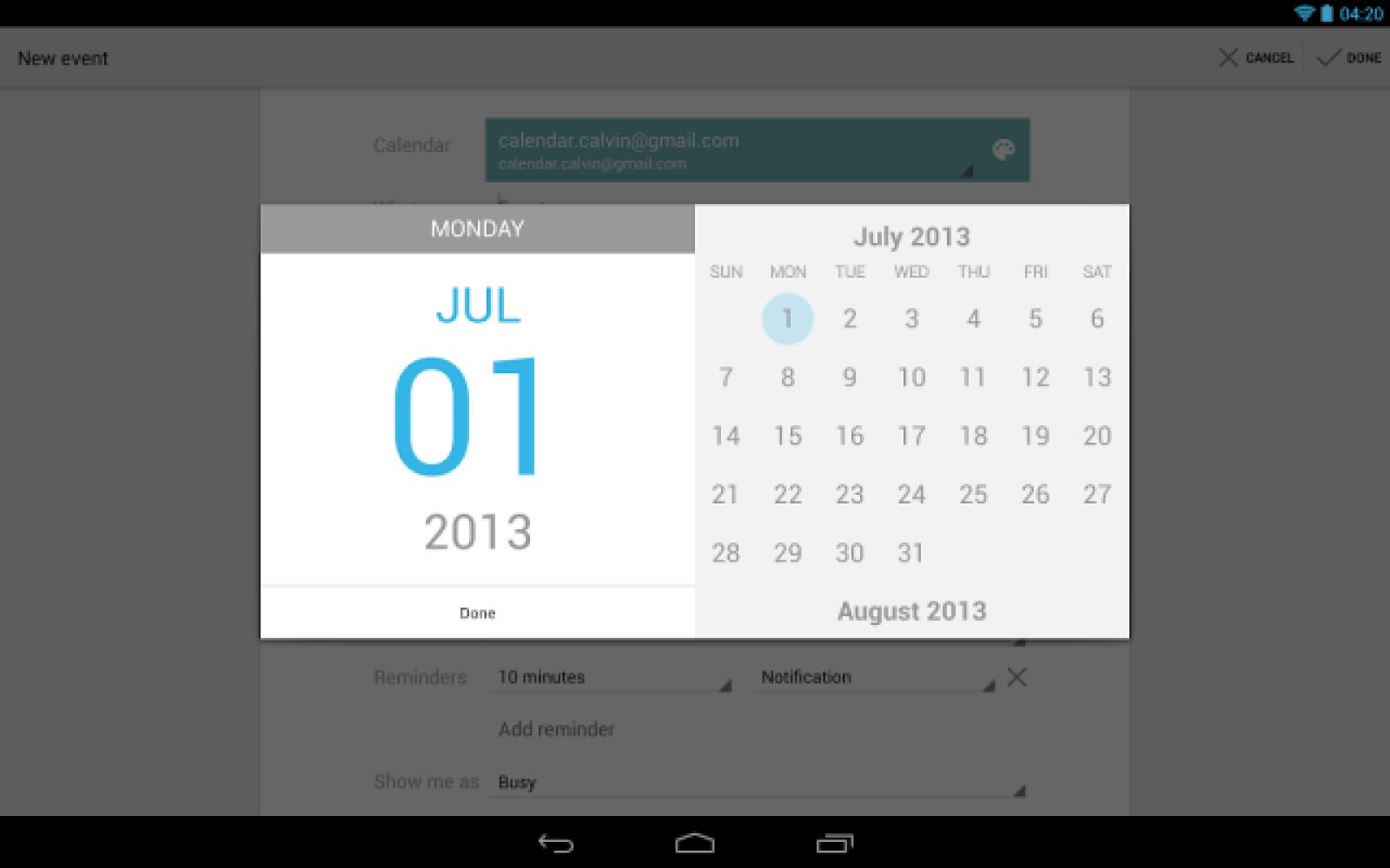 Google Calendar update adds autocomplete to event locations